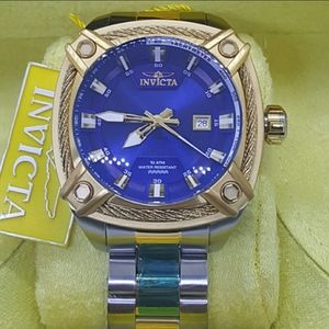 FIRM PRICE-Invicta Square Cable two tone Watch